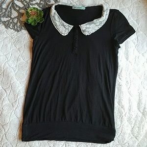 Pleione Peter Pan Collar Shirt